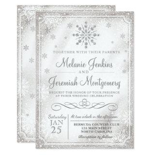 Winter Wonderland Snowflake Wedding Invitations
