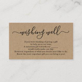 Wishing Well for Wedding Invitations - Rustic