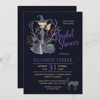 Witch black cats Halloween bridal shower party