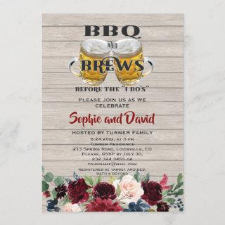 """Wood BBQ & BREWS before the """"I DO'S"""" Engagement Invitation"""