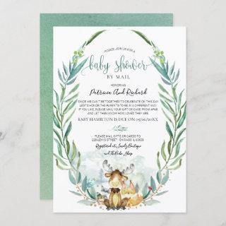 Woodland Animals Greenery Baby Shower By Mail
