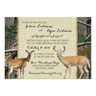 Woodland Buck and Doe Wedding Invitations