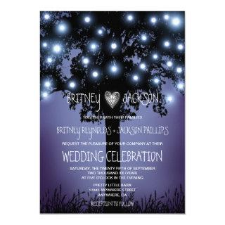 Woodland Forest Rustic Tree Wedding Invitations