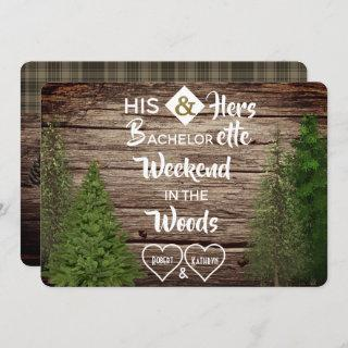 Woodsy Bachelor/Bachelorette Combined Party Invite