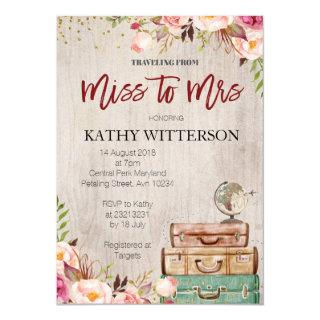 World Travel Bridal Shower Invitations