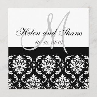 Write Guest's Name on Damask Wedding