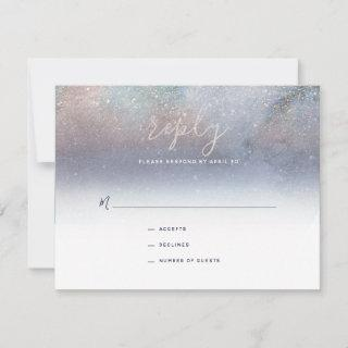 Written in the Stars Starry Night Wedding RSVP Card
