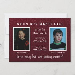 Yearbook Photo   Photo Save the Date Announcement