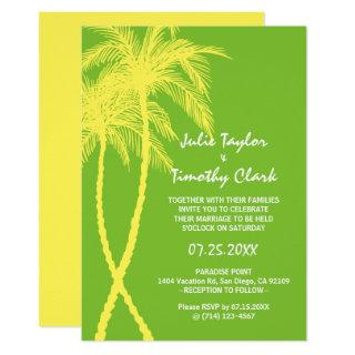 Yellow and Green Wedding Invitations