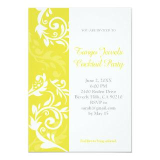 Yellow Floral Invitations
