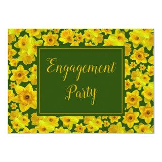 Yellow Spring Daffodil - Engagement Party Invitations