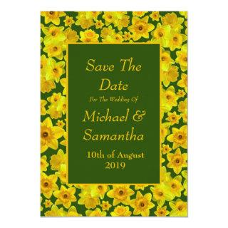Yellow Spring Daffodil - Wedding Save The Date Invitations