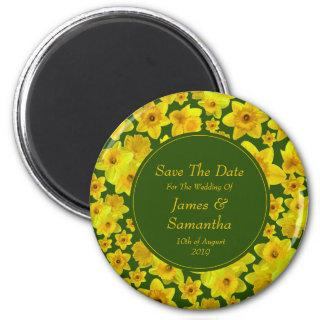 Yellow Spring Daffodil - Wedding Save The Date Magnet