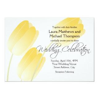 Yellow Tulips Spring Floral Wedding Invitations