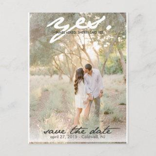Yes. Save The Date Postcard
