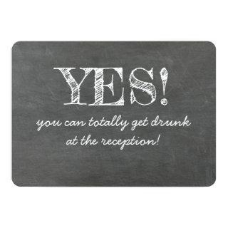 Yes You Can Get Drunk Funny BRIDESMAID CARD