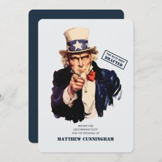 You Have Been Drafted! Groomsman Duty Invitations