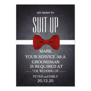 Your Service as a Groomsman Invitation