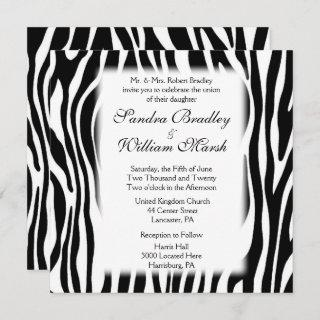 Zebra Print  Wedding Invitation