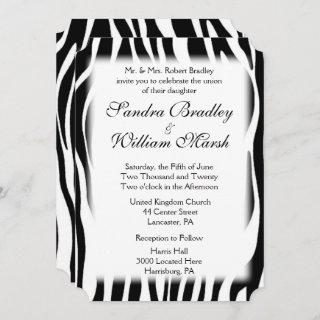 Zebra Print  Wedding Invitations